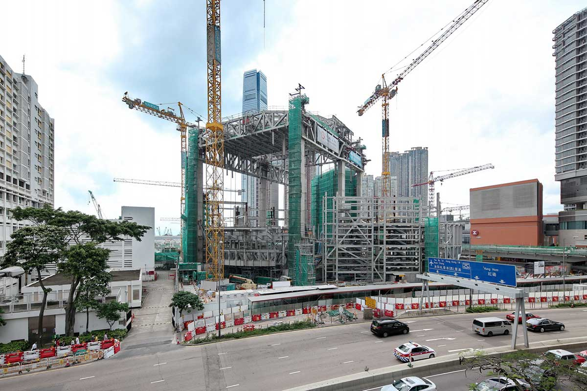 Xiqu Centre under construction - May 2016