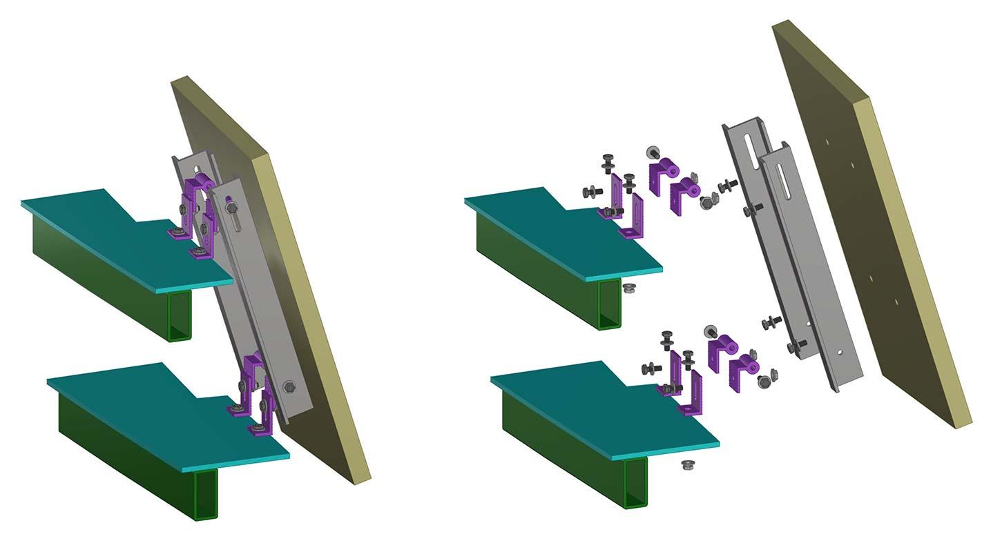 BIM model bracket assembly